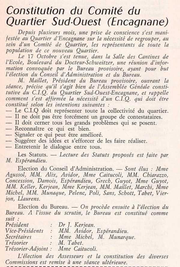 CIQ ENCAGNANE 1971