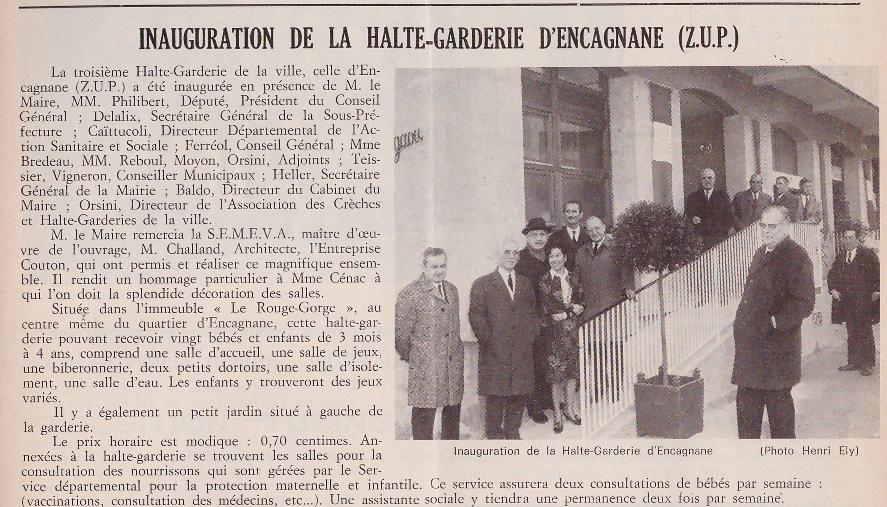 HALTE GARDERIOE ENCAGNANE 1971