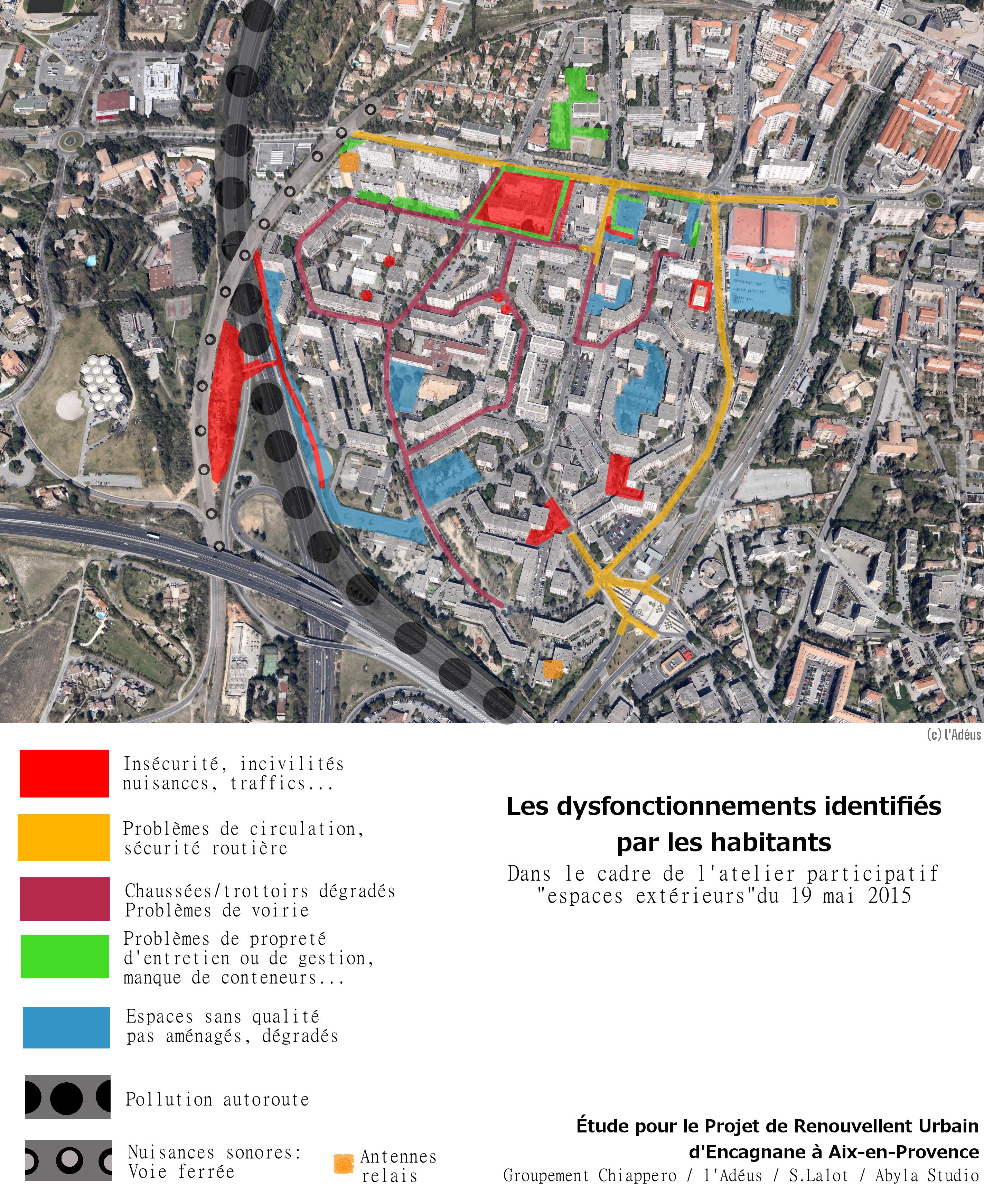 Encagnane dysfonctionnements espaces publics