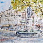 Le Grand Café Leydet en peinture