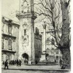 Joanny Drevet et la Tour de l'Horloge à Aix-en-Provence