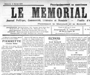 le Mémorial d'Aix du 3 février 1918