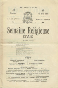 La Semaine Religieuse du 15 avril 1928