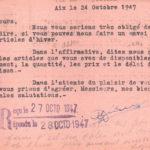 Ets F. Orelli en 1947