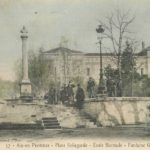 La place Bellegarde en carte postale