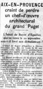 L'hôtel Boyer d'Éguilles va-t-il être démoli ?