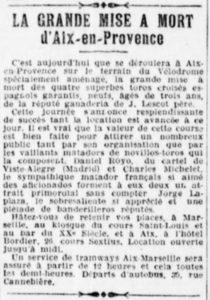 La grande mise à mort d'Aix-en-Provence