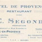 E. Segond, hôtel de Provence