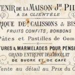 Souvenir de la maison Piller, confiseur