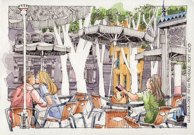 Aix Le Grillon Cafe 1 par Jorge Royan