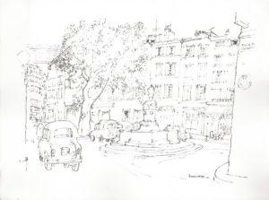 La place des Tanneurs par Henri Crespi