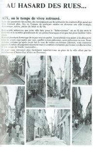 Au hasard des rues d'Aix