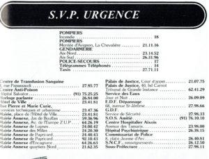 Les numéros d'urgence à Aix
