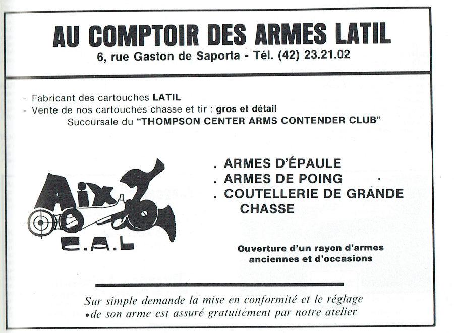 Au comptoir des armes Latil