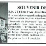 Souvenir de Provence