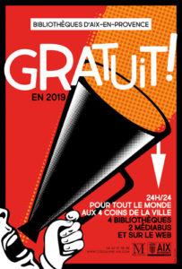 L'inscription dans les bibliothèques d'Aix-en-Provence est GRATUITE !
