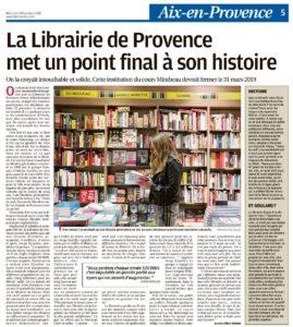 La future ex Librairie de Provence
