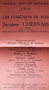 Le festival d'Aix-en-Provence : programme 1956