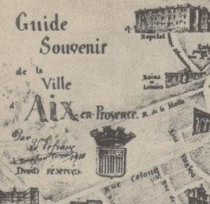 Carte Guide Souvenir d'Aix en 1910