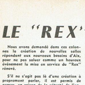 Le nouveau Rex de 1962