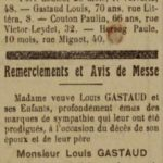 Louis Gastaud n'est plus