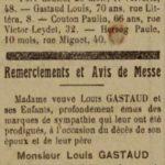 Louis Gastaud n'est plus