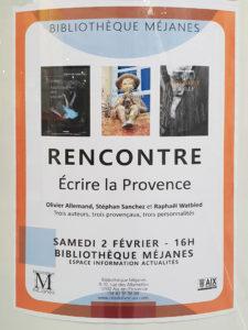 """""""Écrire la Provence"""" à la Méjanes"""