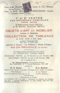 Vente aux enchères au domaine du Prieuré, montée d'Avignon