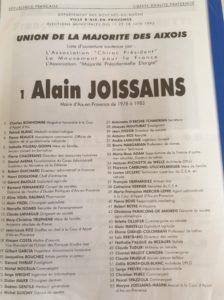 1995 - Alain Joissains