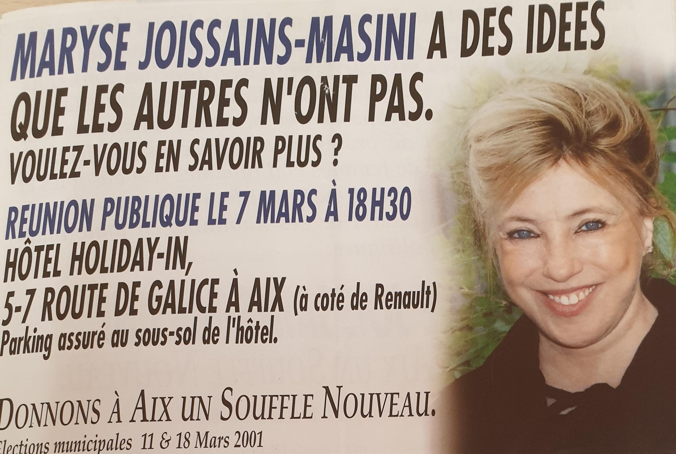 2001 - Maryse Joissains Masini
