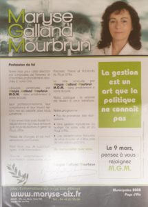 2008 - Maryse Galland Mourbrun