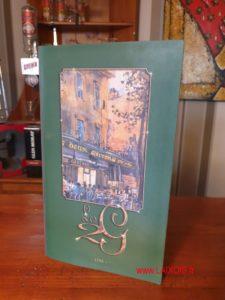 Le menu des 2G à Aix-en-Provence