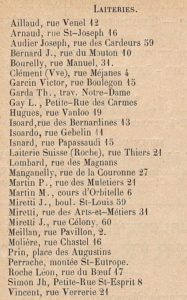 Des laiteries dans Aix en 1910